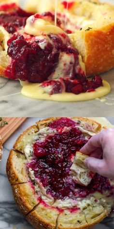 holiday appetizers This tear apart Baked Cranberry Brie Bread Bowl is a beautiful holiday party appetizer. Melty brie and sweet tart cranberry sauce are a match made in heaven! Brie, Holiday Party Appetizers, Thanksgiving Appetizers, Snacks For Party, Holiday Dinner, Healthy Appetizers, Appetizer Recipes, Appetizers For Kids, Gluten Free Puff Pastry