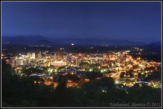 Asheville Skyline by Nathanael Herrera, via Flickr