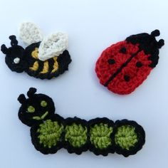 crochet applique bugs - Yahoo Image Search Results