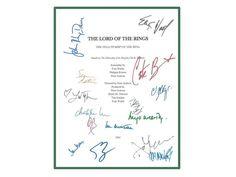 The Lord of the Rings Movie Script Signed Screenplay Autographed: Elijah Wood, Ian McKellan, Liv Tyler, Orlando Bloom, Viggo Mortensen