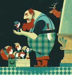 Le Petit Poucet by Gwen Keraval, via Behance