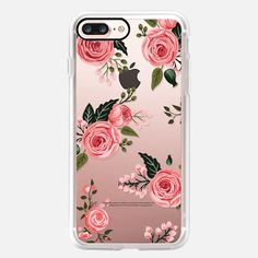 Casetify iPhone 7 Liquid Glitter Case - Pink Floral Flowers and Roses Chic Feminine Transparent Case 008 by Frankie & Claude Ipod Touch Cases, Cute Phone Cases, Iphone 7 Plus Cases, Iphone 7 Cases, Iphone 3, Apple Iphone, Pink Iphone, Apple Coque, Accessoires Iphone