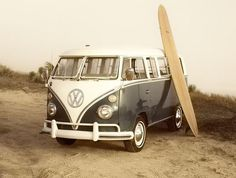 Vintage VW Bus Daytona Beach
