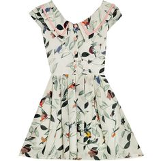 Bonne Chance Collections The Sailor Scout Dress in Love Bird Print ($49) ❤ liked on Polyvore