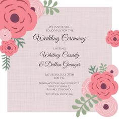 Customize, add text and photos. Print for free! Free Printable Wedding Invitations, Printable Invitation Templates, Free Printables, Order Prints, Wedding Ceremony, Floral, Photos, Island, Printed