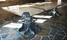 The Turnbuckle Industrial Table Design by Bradner