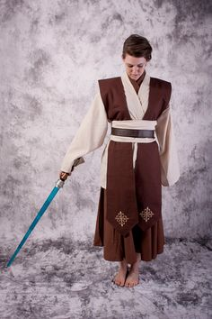 Female Star Wars Costume Tunic Skirt set jedi