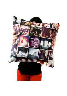 Give a lucky friend a pillow of memories! Design a style online with your fave Instagram photos for the perf dorm decoration. Instagram Throw Pillow, $48, stitchtagram.com