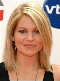 Best Quality Medium Straight Blonde Human Hair Monofilament Top with Lace Front Wig 12 Inches