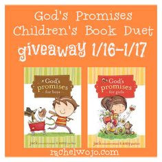 God's Promises for Boys and God's Promises for Girls book duet giveaway!