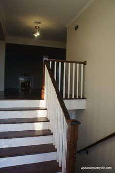 simple railing (but with white post and cap)