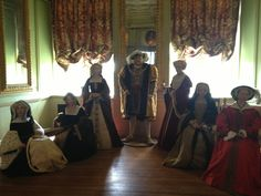 Madame Tussaud's wax figures at Warwick Castle are a thing of beauty. Here's Henry VIII with his six wives.