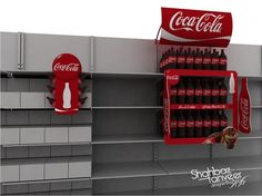 Coca Cola 3D Model Shop with Complete Branding on Behance