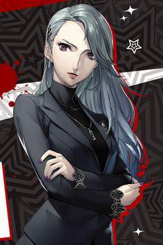 """Official art of Sae Niijima via Complete Guide "" Persona 5 Tumblr, Persona 5 Anime, Persona 4, Manga Girl, Manga Anime, Anime Art, Anime Girls, Female Characters, Anime Characters"