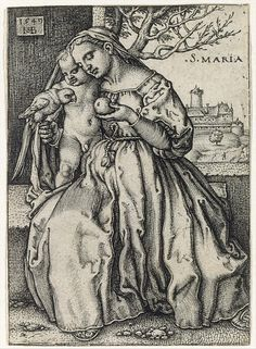 The Virgin and Child with the Parrot Sebald Beham (German, Nuremberg 1500–1550 Frankfurt) Artist: After Barthel Beham (German, Nuremberg ca. 1502–1540 Italy) Date: 1549 Medium: Engraving; second state of three Dimensions: sheet 3-1/8 x 2-1/4 in. (8 x 5.6 cm)