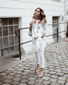 White summer ootd Summer Ootd, My Outfit, White Jeans, Women's Fashion, Pants, Outfits, Trouser Pants, Fashion Women