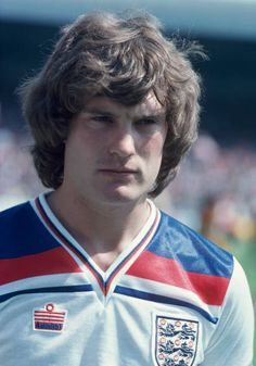 Glenn Hoddle of England during the British Home Championships match between Wales and England at the Racecourse Ground on May 1980 in Wrexham, Wales. Get premium, high resolution news photos at Getty Images England Football Players, England Players, Football Shirts, Football Team, Trevor Brooking, Stock Pictures, Stock Photos, England National Team, British Home