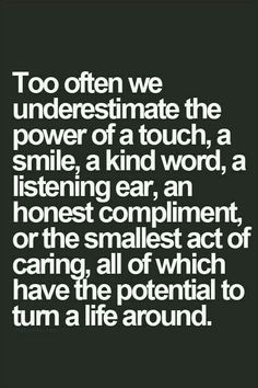 Don't underestimate the impact of the little things