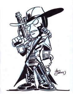 Official website of Harvey-Award-nominated artist / author Chris Giarrusso. Chris is best known as the creator of the G-Man series and the Mini Marvels. Cad Bane, Star Wars Bounty Hunter, G Man, Star Wars Art, Hunters, Joker, Sketches, Darth Vader, Marvel