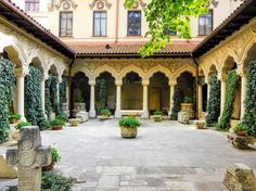 The tranquil Stavropoleos Monastery is one of the oldest churches in Bucharest. Vlad The Impaler, Close Encounters, Bucharest, Palace, Destinations, Old Things, Castle, Inspirational, Mansions
