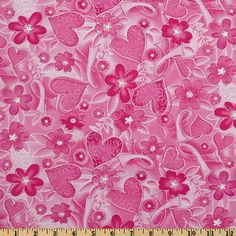 Timeless Treasures Pink Ribbon Breast Cancer Awareness Pink Fabric