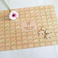 Personalised Wooden Wedding Jigsaw Puzzle by PrettyPersonalisedUK