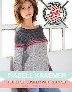 Size 93cm ~ Experienced Knitter ~ FREE pattern ~ Textured jumper with stripes by Isabell Kraemer