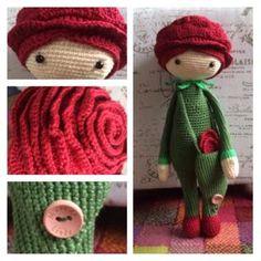 Rose Roxy made by Linda van der P / amigurumi crochet pattern by Zabbez