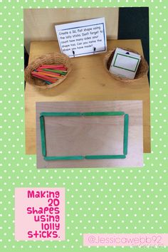 funky fingers. finger gym. fine motor skills. Making shapes using lolly sticks