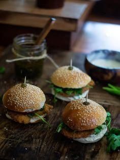 Mini hamburguesas de pargo