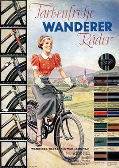 Velo Vintage, Vintage Cycles, Vintage Bikes, Vintage Ads, Old Bicycle, Bicycle Art, Old Bikes, Illustration Photo, Illustrations