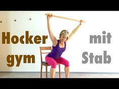 10 min. Hocker - Gymnastik mit dem Stab - YouTube