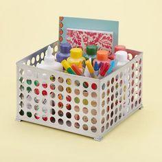 Kids' Desk Accessories: Kids Silver Storage Bin in All Storage