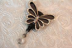 Rhinestones  nurse jewelry  badge bling  by DefinitelyYou on Etsy