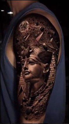 Sleeve Tattoo : 50 Newest Full Sleeve Tattoo ideas - Free Tattoo Designs Sanskrit Tattoo, Sexy Tattoos For Women, Full Sleeve Tattoos, Fake Tattoos, Tattoo Sleeve Designs, Anubis, Japanese Design, Statue, Sleeves