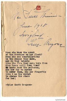 Typewriter Series #753byTyler Knott Gregson