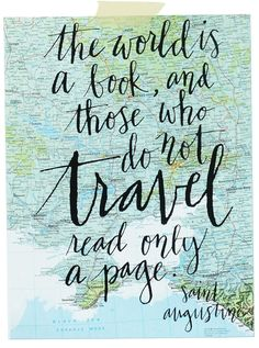 The world is a book, travel