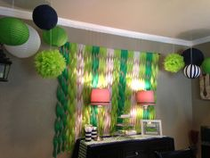 Need Alligator Baby Shower ideas? Check out my post for DIY projects and unique decorations Baby Shower Parties, Baby Shower Themes, Baby Boy Shower, Baby Shower Decorations, Shower Ideas, Baby Showers, Crepe Paper Backdrop, Crepe Paper Decorations, Alligator Party