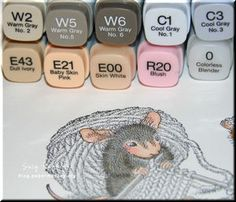 papermonkey.org {make time for playtime}: House Mouse Coloring Tutorial With Copics & Junk Challenge