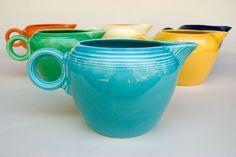Vintage Fiestaware Turquoise 2 Pint Jug For Sale: Antique Fiesta Pottery  Americana Dinnerware Art Deco 30s 40s
