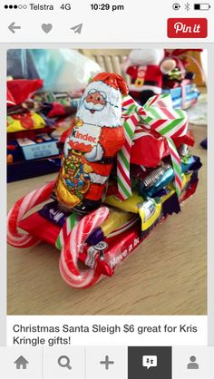112 super easy homemade christmas ideas -page 9 Christmas Candy Cane Decorations, Christmas Candy Gifts, Christmas Goodies, Kids Christmas, Christmas Sleighs, Christmas Cooking, Christmas Countdown, Easy Homemade Christmas Gifts, Homemade Gifts