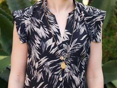 Vogue 8903 Shirt Dress in silk crepe de chine, good summer dress