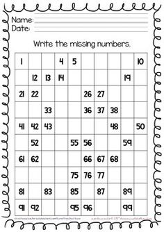 Math Practice Writing Numbers 1-30 with Differentiated