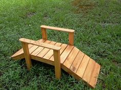 just keeping my self busy pallet foot bridge garden small stream, diy, outdoor living, pallet, woodworking projects