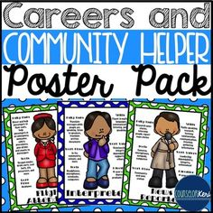 Career Education and Community Helper Posters by Counselor Keri | Teachers Pay Teachers
