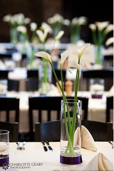 simple modern wedding centerpieces   Simple and Elegant Calla Lily Wedding Centerpieces   Budget Brides ...