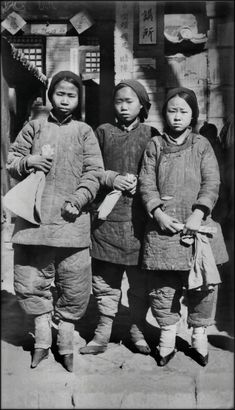 Once upon a time, in China, girls feet were bound.