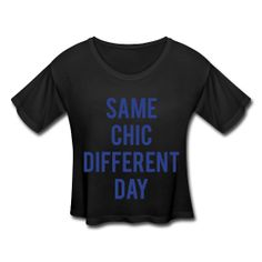 Same Chic, Different Day Womens Crop Top #chic #tshirt #croptop #WomensClothing #casual #sexy