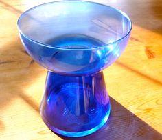 Vintage Amaryllis Bulb Vase Forcing Bulb Vase Blue by LebenStil Bulb Flowers, Flower Vases, Bulb Vase, Amaryllis Bulbs, Large Candles, Water Supply, Glass Containers, Vintage Flowers, Candle Holders