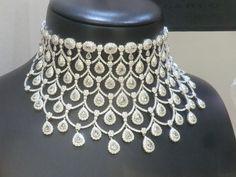 diamond necklace in the window of Ciribelli in Monaco